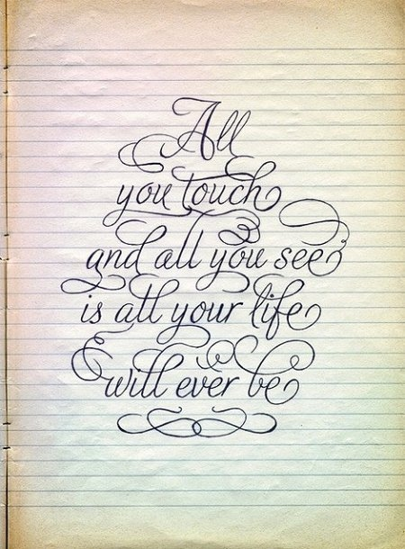 Calligraphy Graphic Inspiration Life Quote Quotes