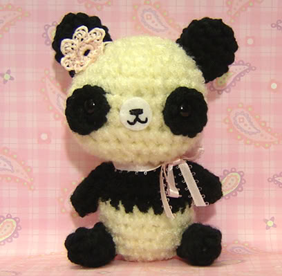 amigurumi, animals, cute, panda