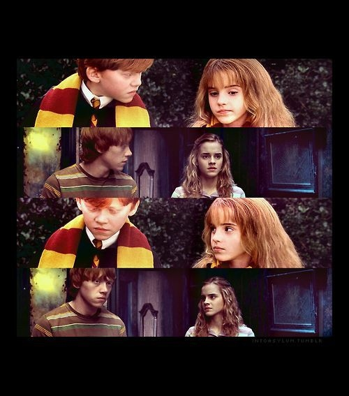 harry potter, hermione granger, love, mione, ron, ronald weasley