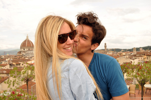 blonde, blonde salad, boy, chiara, couple, friends, girl, italian, kiss, love, pair, richie, smile