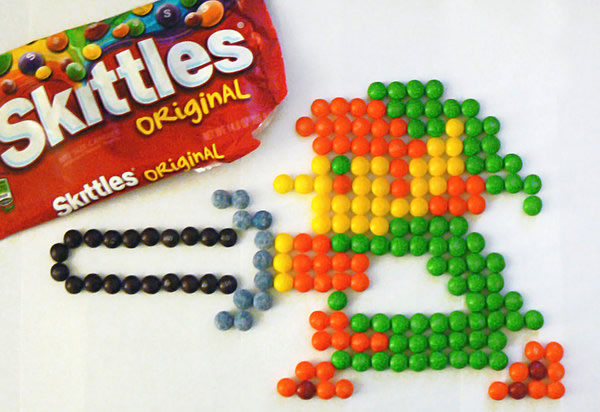 candy, legend of zelda, link, nintendo, skittles, video games
