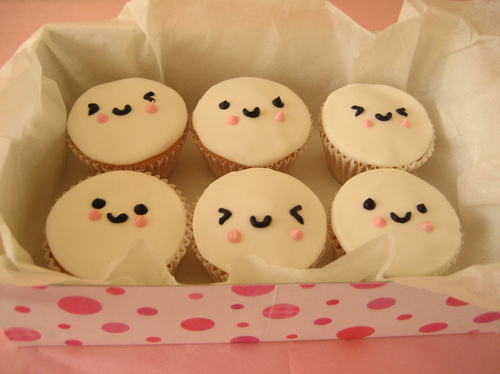 cupcakes, cute, novelty cupcakes, smiley