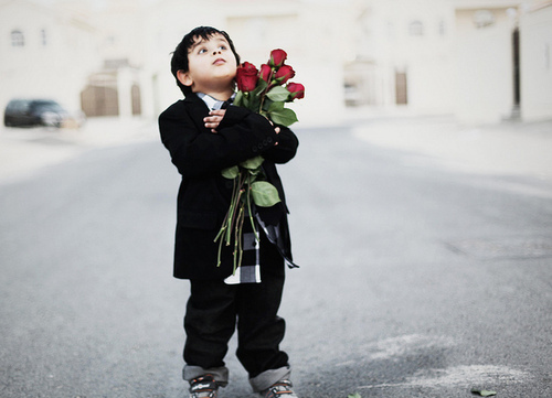 *-*, boy, child, kids, roses