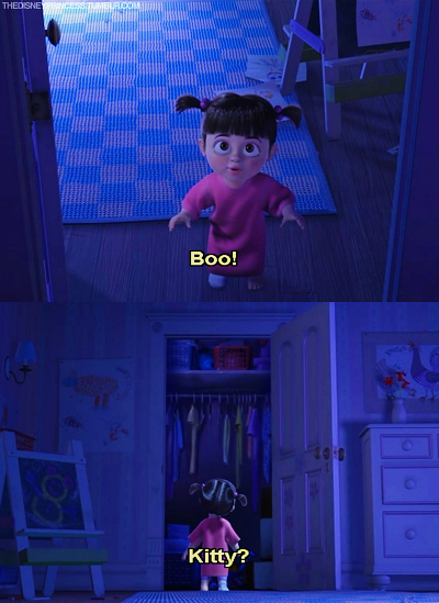 boo, disney, kitty, monsters inc, pixar