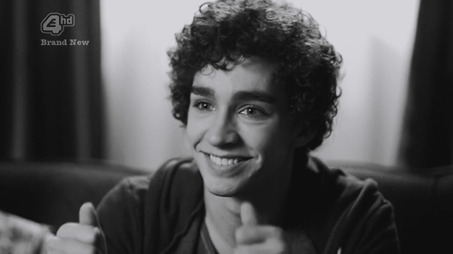 black and white, cute, misfits, nathan, nathan young