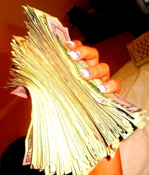 cash, cute, fake nails, fashion, girl