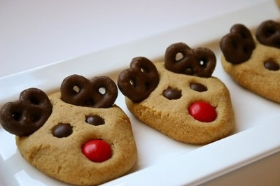 christmas, cookies, cute, dessert, food, reindeer