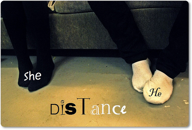 couple, distance, foot, love, sad