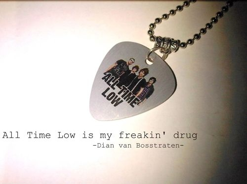 all time low, band, cute, fucking amazing, love, music, necklace, photography, plectrum, special