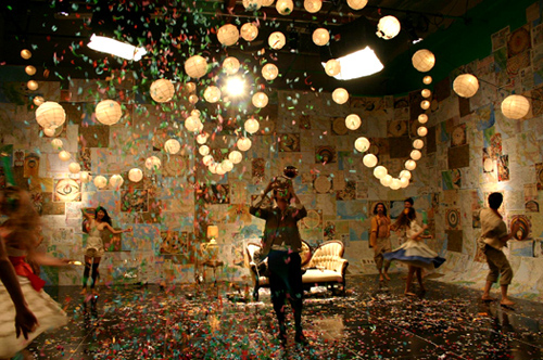beirut, confetti, party, sparkles