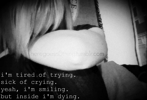 black and white, crying, cute, depressed, depression - image #116011 ...