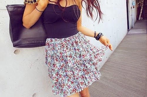 clothes, cute, dress, fashion, flores