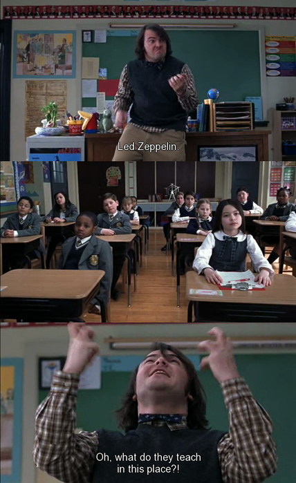 jack black, led zeppelin, miranda cosgrove, movie, school of rock