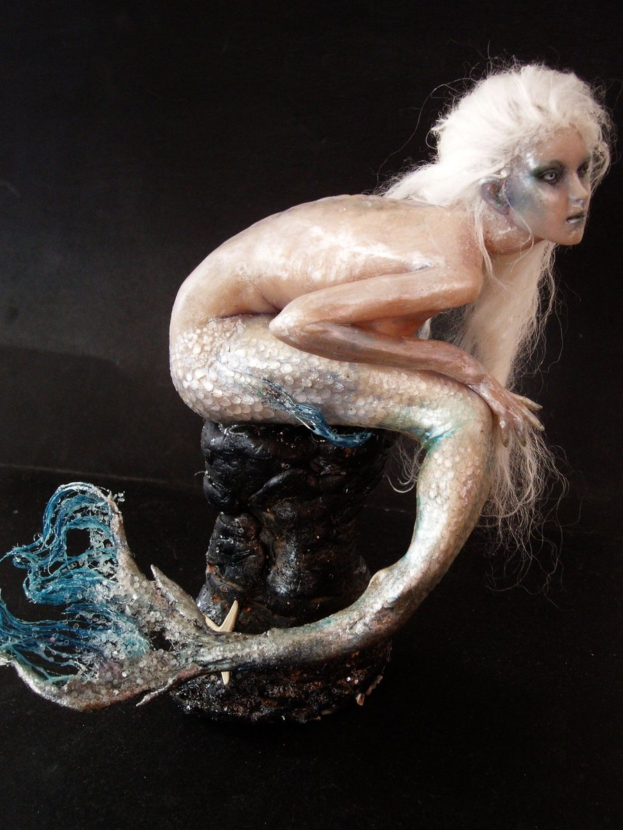 art, doll, fantasy, mermaid, sculpture