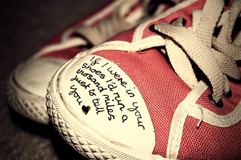 converse, cute, fashion, heart, inspiring, pink, quotes, shoes, typography, words