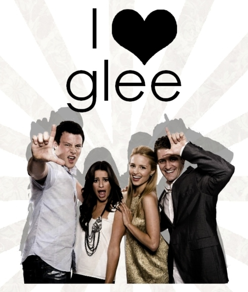 cory monteith, dianna agron, glee, lea michelle, matthew morrison