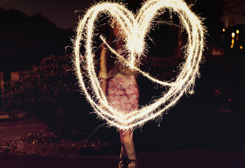 fire, fireworks, firwork, girl, heart, love