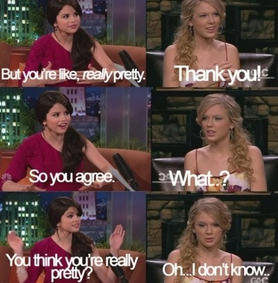 funny, pretty, selena gomez, taylor swift