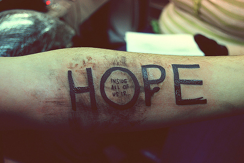 hope, quote, tattoo, text, typography