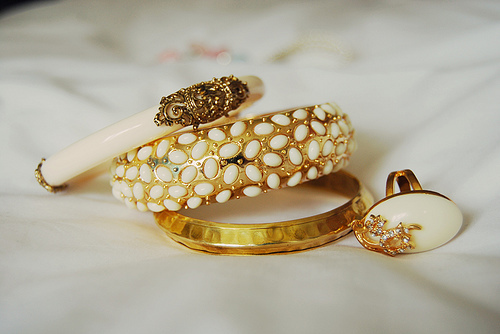 bangles, bracelets, gold, jewelry, rings