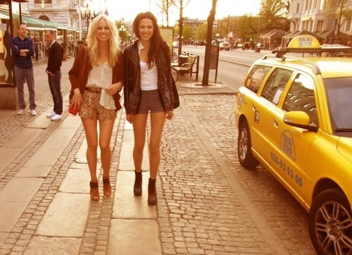 beautiful, blonde, brunette, cab, fashion