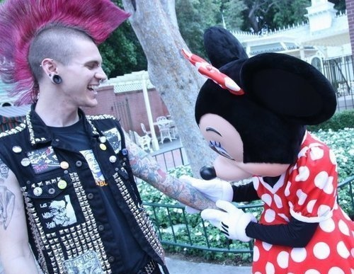 boy, cute, disney, disneyland, minnie
