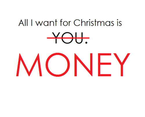 christmas, gift, money, wanted