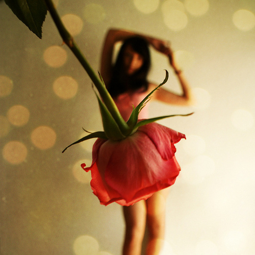 beautiful, cool, dress, flower, girl