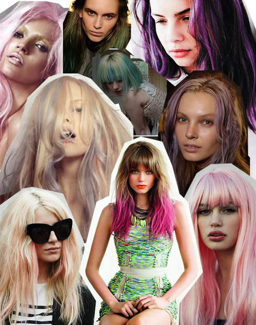 abbey lee, colored hair, dyed hair, girls , hair