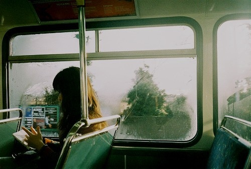 book, bus, girl, photography, read