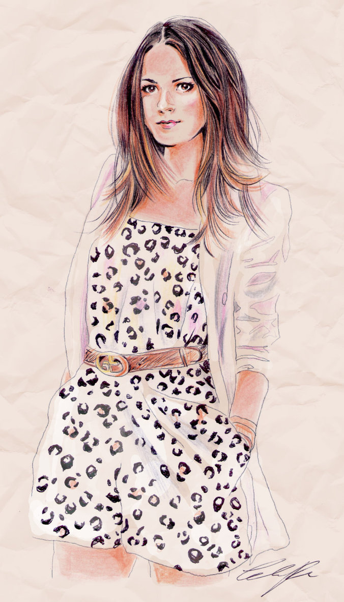 Fashion illustration fashion vibe illustration leopard print