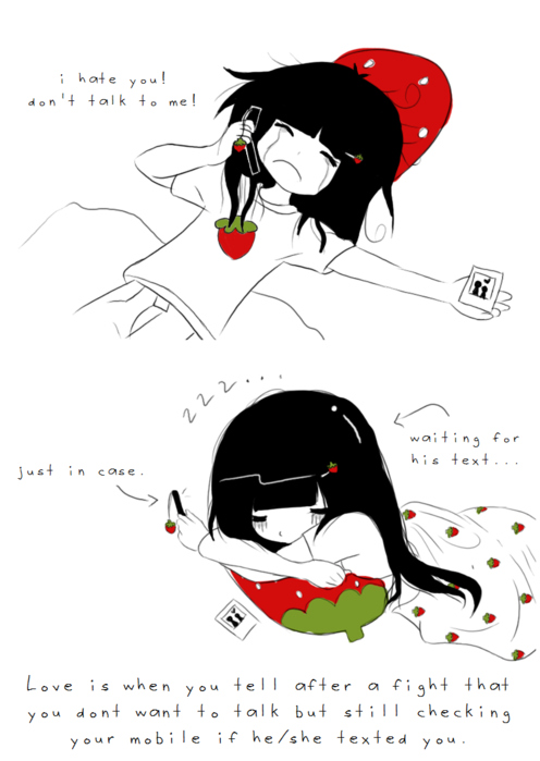 cute, love, quotes, strawberrytelle