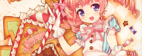 anime, blue, candy, cute, japanese, kawaii, pink