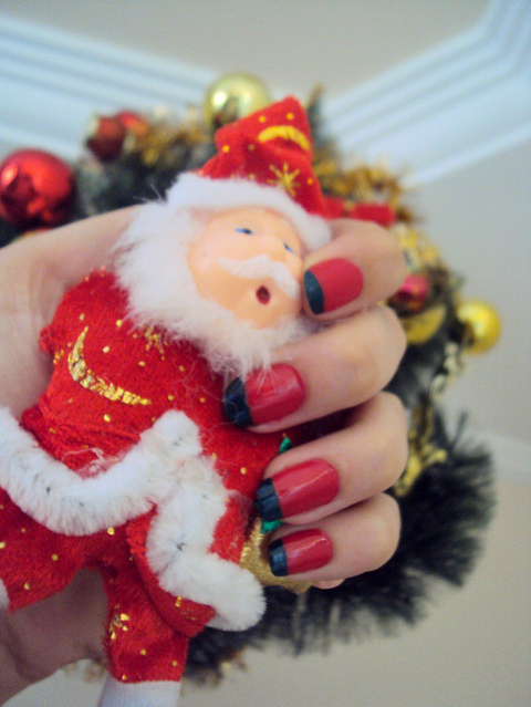 christmas, christmas tree, esmalte, nail, nails