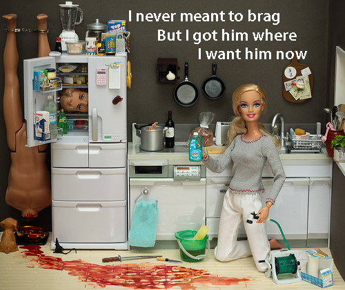barbie, dead, devil, funny, gross, ken, killer, miniatures, nice!, paramore, stupid