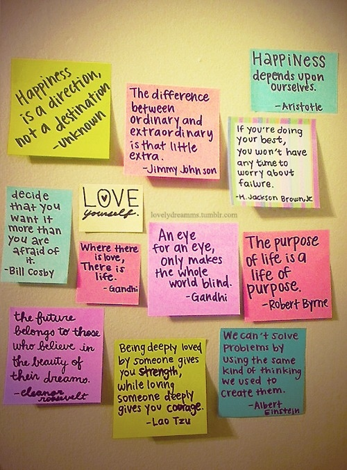 cute, happiness, life, love, notes