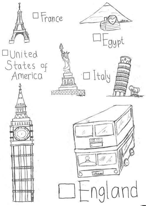 big ben, double decker, egypt, eiffel, england