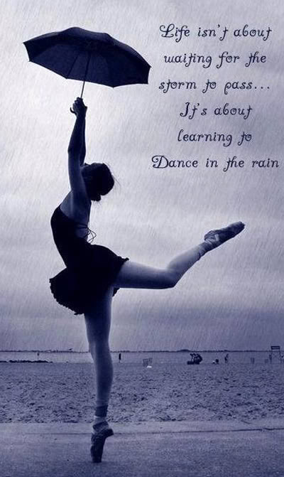 Ballet beautiful cute dance girl life pretty rain umbrella