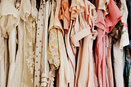 clothing, clothing racks, fashion, girly, lacey, pink