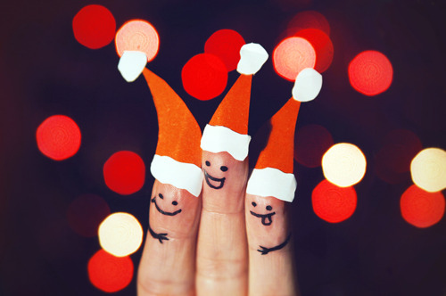 by sanja lydia, christmas, cute, friends, santa