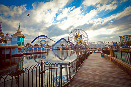 carnival, clouds, ferris wheel, lake, photography, pretty, sky