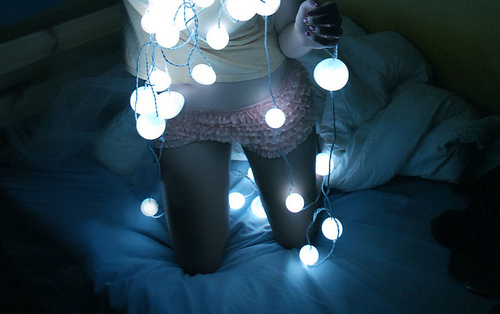 girl, lights, nerdfromparis, photography, sexy