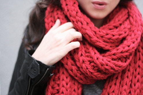 girl, lips, pink, scarf