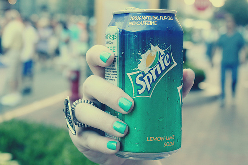 blue, green, hand, lemon lime, nail
