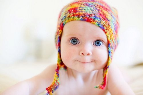 baby, blue eyes, colorful, cute