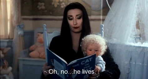 addams family values, anjelica huston, morticia addams, movie, quote, text, the addams family