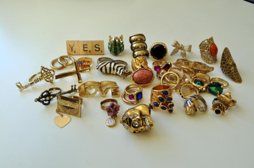 colourful, fashion, gold, jewlery, rings