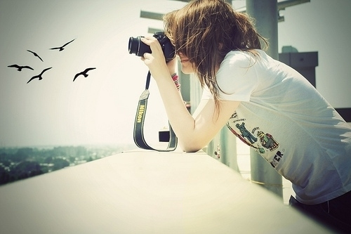 camera, camera girl, cute, fashion, girl