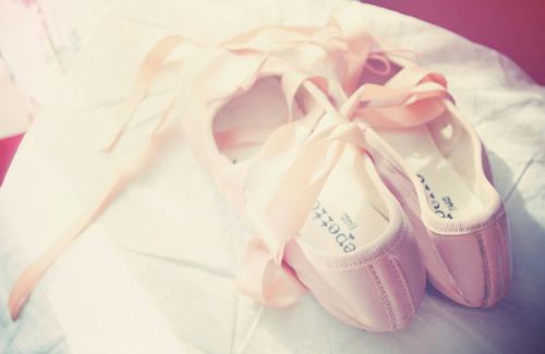 ballerina, ballerina shoes, pink, ribbons
