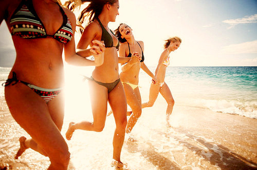 artsy, beach, bikini, california gurls, friends